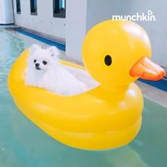 [먼치킨] 강아지 물놀이 오리 튜브