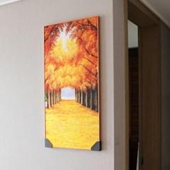 인테리어 벽걸이 액자 황금 가로수길 45cm X 90cm