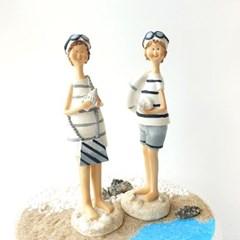 소라껍질 바닷가 마린 인형 2p set