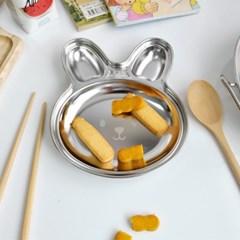 토끼 스텐 간식접시