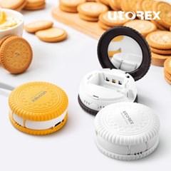 유토렉스 퍼펙트케어 휴대용 충전식 샌드크래커 미러도어 칫솔살균기