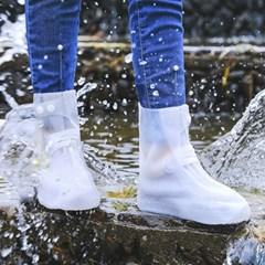 실리콘 신발방수커버 레인슈즈(화이트)