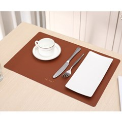모던 양면 가죽 테이블매트 브라운 식탁데코매트