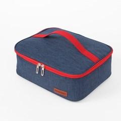 컴팩트 사각 보온보냉 도시락 가방 쿨러 식판 런치백