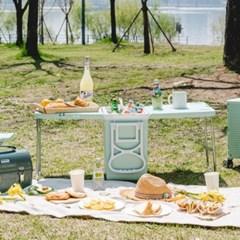 접이식 파스텔 민트 아이스박스 폴딩 테이블 의자 세트 b