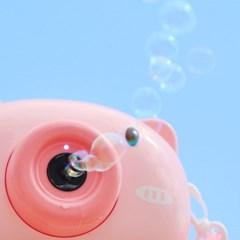카메라 비눗방울 자동 버블건 (핑크돼지)_(301875413)