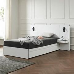 트리빔하우스 에리스 라텍스탑 서랍형 침대 SS+협탁 1EA _TB21F112