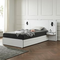 트리빔하우스 에리스 라텍스탑 서랍형 침대 SS + 협탁 2EA _TB21F113