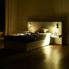 트리빔하우스 에리스 독립봉합 서랍형 침대 SS +협탁2EA_TB21F117