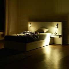 트리빔하우스 에리스 본넬스프링 서랍형 침대 SS + 협탁1EA_TB21F120