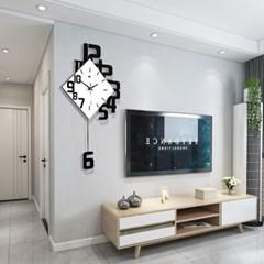 인테리어 모던 클래식 화이트 사각 디자인 벽걸이 거실 장식 벽시계