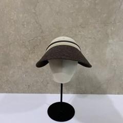 가로줄 챙넓은 꾸안꾸 패션 자외선차단 썬캡 모자