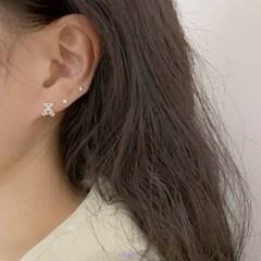 [925실버] 하트베어 실버 귀걸이