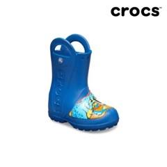 [크록스] 키즈 펀랩 다이노 레인부츠 블루 205536-4GX