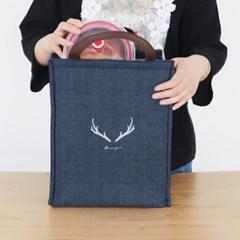 데님 보온보냉 도시락가방(26x33cm) 피크닉가방