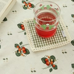 상큼체크 컵받침(컬러3종)