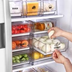 [리본제이]리메이크 모듈형 냉장고 서랍 M+M 2P세트 (스_(1428275)