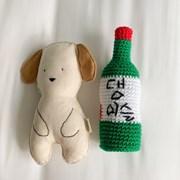 개달당 댕이슬 딸랑 삑삑이 강아지 장난감
