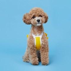 플로트 쿨링프릴크롭탑 강아지옷 옐로우