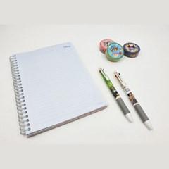 정글북 러버 3색 볼펜