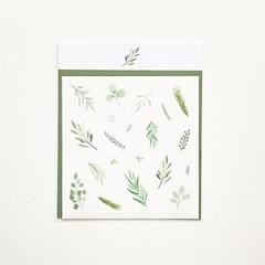 수채화 풀잎들 스티커