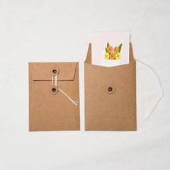 크라프트 끈 봉투