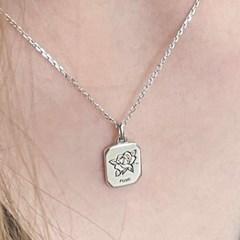 silver 925 birth flower necklace (12month)