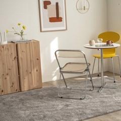 벨기에 AW 글로스 수입 카페트 거실 러그(다크모카그레이160x240)