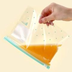 생활쉼표 슬라이드 지퍼백 대형팩 6P세트 냉동 육수보관 위생팩