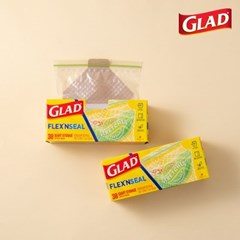 [글래드] 플렉스앤씰 냉장 중형(38매) 2개세트_(717815)