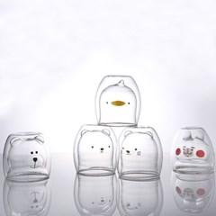 푸코 라미나 동물 캐릭터 내열 이중유리컵(5type)_(2149599)