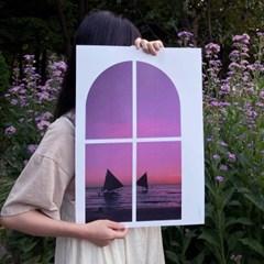 sea sky window (바다 하늘 창문 포스터)