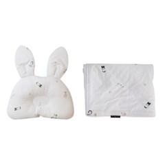 꿈두부 디자인 신생아 토끼베개 극세사블랭킷 세트 7종