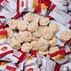 원조 오트밀 미니바이트 귀리 곡물 우유 과자 인간사료 1kg 400개