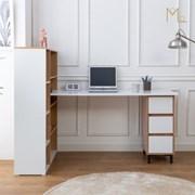 하우스 1600 책상 낮은책장 세트 H형책상 컴퓨터책상 1_(1162388)