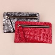 [가죽공예DIY키트] 방과후센터 악어무늬(와니) 지퍼 장지갑 30세트