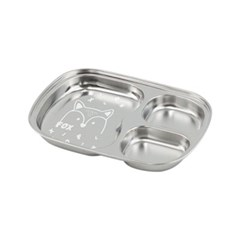 아이쥬 스텐 간식 사각 접시 3구 (여우)