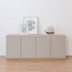 사이드보드 수납형 높은 거실장 1600 (2color)