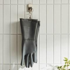 [한샘] 오버핏 고무장갑 중 그레이 5개 - 주방장갑 수세미