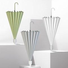 아이디어 물받이 파스텔 자바라 우산 6color