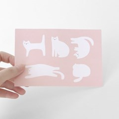 [찰리파파] 피터 고양이 (핑크) 엽서