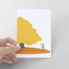 [찰리파파] 노랑나무 엽서