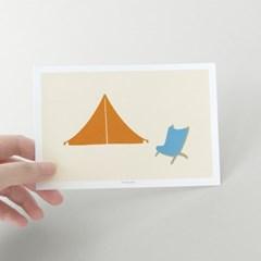 [찰리파파] 캠핑 엽서