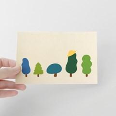 [찰리파파] 나무패밀리 엽서