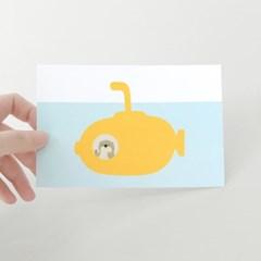 [찰리파파] 잠수함 엽서