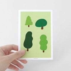 [찰리파파] 4 나무 엽서