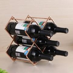 럭셔리 메탈 프레임 와인랙(로즈골드) 와인거치
