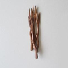 롬우드 로즈원목 나뭇가지 티포크_(1928417)