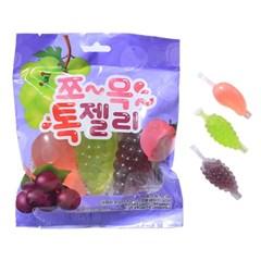 쪼옥 톡젤리 120g 3개 틱톡 포도 복숭아 청포도 제리