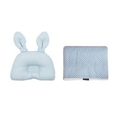 꿈두부 패턴 돌아기 토끼베개 극세사블랭킷 2종세트